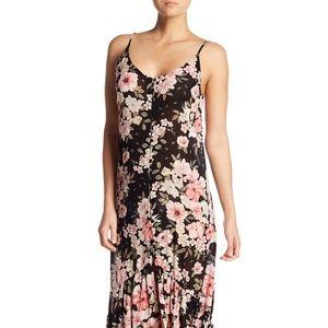Billabong Dance On Air Maxi Dress in Black Floral